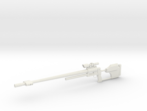 1:12 Miniature RAI Model 500 Sniper Rifle in White Natural Versatile Plastic: 1:12
