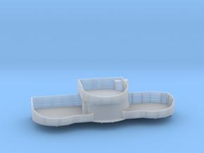 1/200 USN midship 4th deck port gun tub bofors in Smooth Fine Detail Plastic