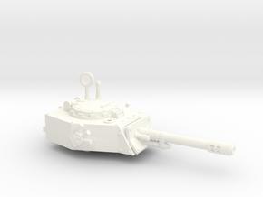 28mm APC turret with autocannon in White Processed Versatile Plastic