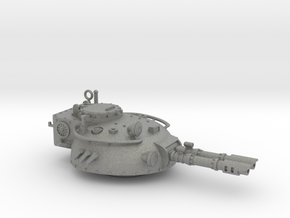 28mm Rauber tank turret - twin  laser cannon in Gray PA12