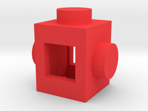 Custom LEGO-inspired brick 1x1 in Red Processed Versatile Plastic