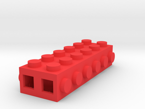 Custom LEGO-inspired brick 6x2 in Red Processed Versatile Plastic