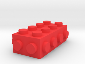 Custom LEGO brick 4x2 in Red Processed Versatile Plastic