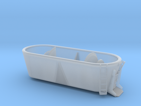 1/50th Vertical Twin Drum Mixer Farm Truck Body in Smooth Fine Detail Plastic