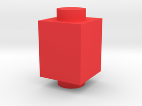Custom brick 1x1 for LEGO in Red Processed Versatile Plastic