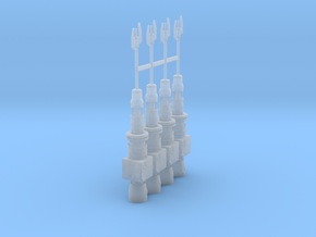 1:144 Rebel Antenna 4pk in Smooth Fine Detail Plastic