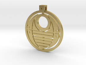 Bohrok Pendent in Natural Brass