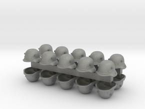 28mm WW1 German helmets in Gray PA12