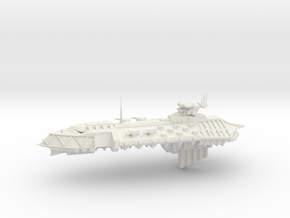 Chaos Cruiser - 7  in White Natural Versatile Plastic