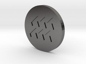 Aquaris Coin in Polished Nickel Steel