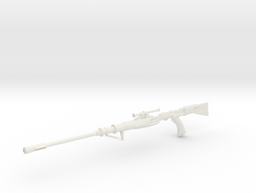 1:12 Miniature Tusken Sniper Rifle in White Natural Versatile Plastic: 1:12