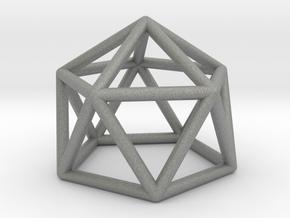 0749 J11 Gyroelongated Pentagonal Pyramid #1 in Gray PA12