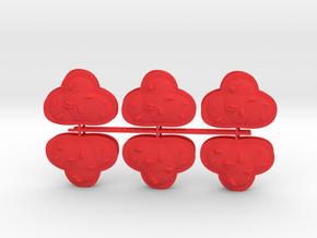 Blast Markers Sprue - 3D in Red Processed Versatile Plastic