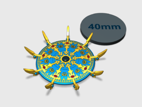 44mm - Sorcerer's Disc: Scarab  in Smooth Fine Detail Plastic: Small