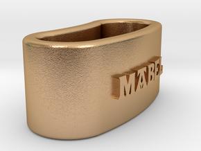 MABEL napkin ring with lauburu in Natural Bronze