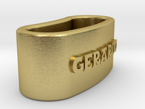 GERARDO napkin ring with daisy in Natural Brass