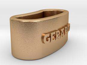GERARDO napkin ring with daisy in Natural Bronze
