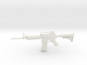 1:12 M16 Rifle in White Natural Versatile Plastic: 1:12