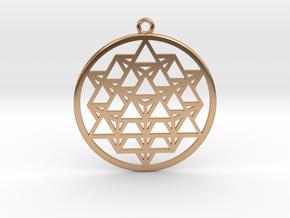 64 Tetrahedron Matrix in Polished Bronze