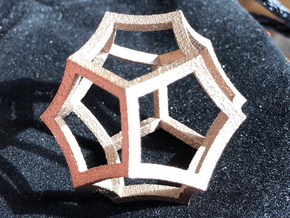 Hyperbolic Dodecahedron in Matte Bronzed-Silver Steel