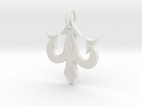 luck charm keychain in White Natural Versatile Plastic: Medium