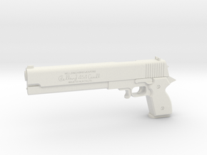 1:3 Miniature Casull Revolver in White Natural Versatile Plastic