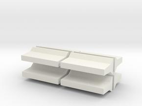 Barrier-OntarioTall-8 in White Natural Versatile Plastic