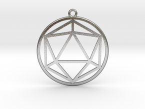 Icosahedron in Natural Silver