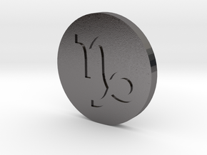 Capricorn Coin in Polished Nickel Steel