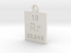 Ar Periodic Pendant in White Natural Versatile Plastic