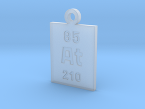 At Periodic Pendant in Smooth Fine Detail Plastic