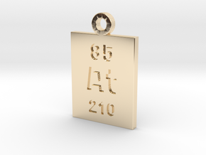 At Periodic Pendant in 14k Gold Plated Brass