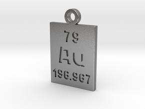 Au Periodic Pendant in Natural Silver