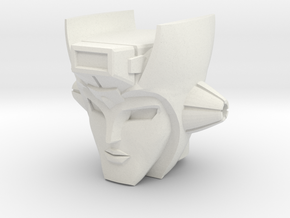 Chromia Head for Warbotron WB03-A Turbo Ejector in White Natural Versatile Plastic