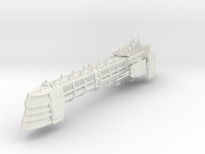 Imperial Legion Long Cruiser - Armament Concept 13 in White Natural Versatile Plastic