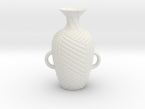 Vase 182Inc in White Natural Versatile Plastic