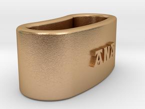 ANA 3D Napkin Ring with lauburu in Natural Bronze