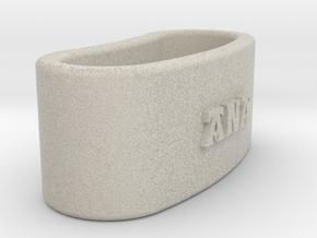 ANA 3D Napkin Ring with lauburu in Natural Sandstone