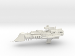 Mars Class Cruiser in White Natural Versatile Plastic