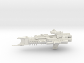 Armageddon Class Cruiser in White Natural Versatile Plastic