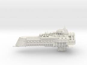 Imperial Legion Cruiser - Concept 2 in White Natural Versatile Plastic