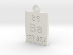 Ba Periodic Pendant in White Natural Versatile Plastic