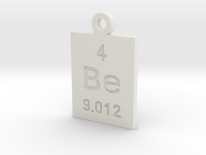 Be Periodic Pendant in White Natural Versatile Plastic