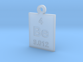 Be Periodic Pendant in Smooth Fine Detail Plastic