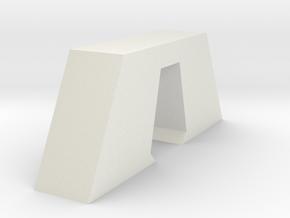 Aqueduct Pillar in White Natural Versatile Plastic