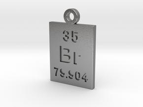 Br Periodic Pendant in Natural Silver
