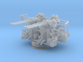 1/56 USN 40mm Quad Bofors shielded in Smooth Fine Detail Plastic
