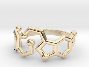 Dopamine + Serotonin Molecule Ring in 14K Yellow Gold: 3.5 / 45.25