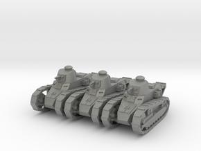 1/200 Renault FT tanks (3) in Gray PA12