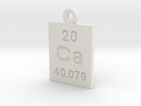 Ca Periodic Pendant in White Natural Versatile Plastic